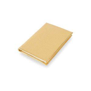 económica y original libreta dorada