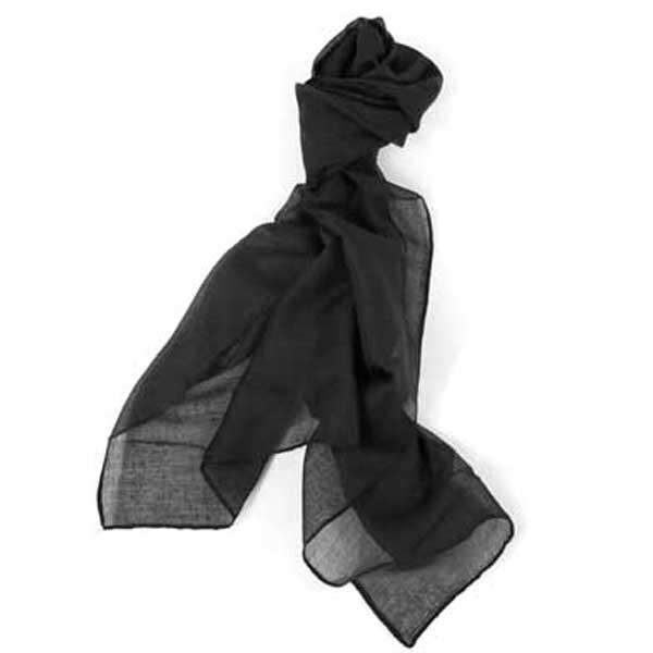 bonito y elegante foulard de color negro