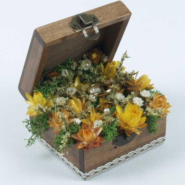 preciosa caja joyero para llevar tus alianzas