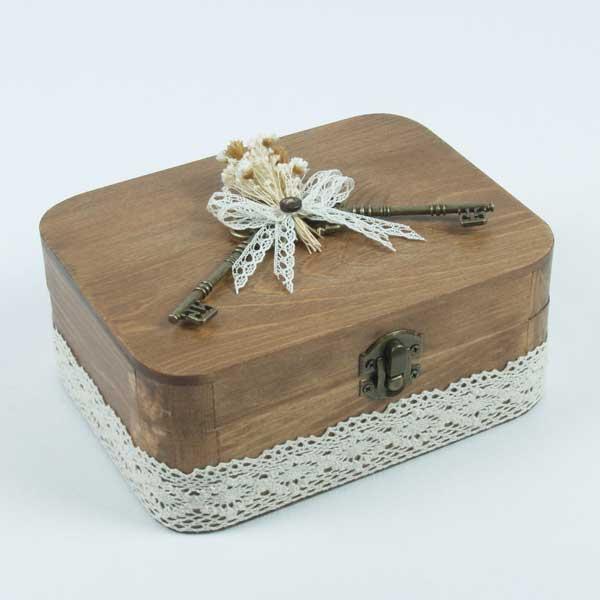preciosa caja joyero para tus alianzas