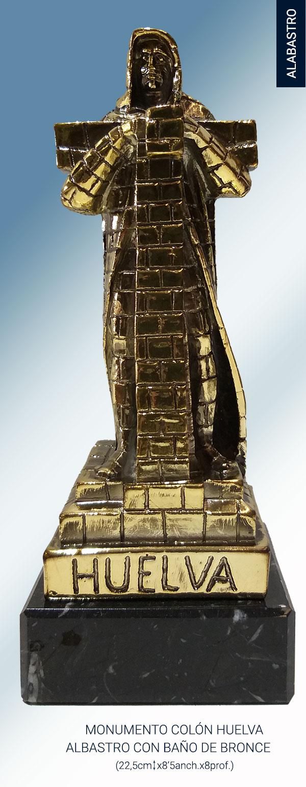 Monumento del Colón de Huelva en alabastro