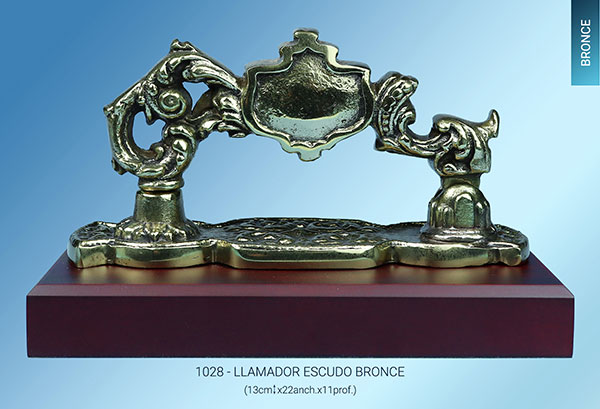 Llamador tamaño real bronce