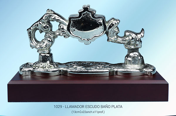 Llamador tamaño real bronce plateado