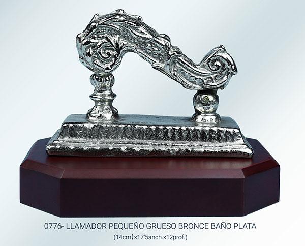 Llamador bronce plateado
