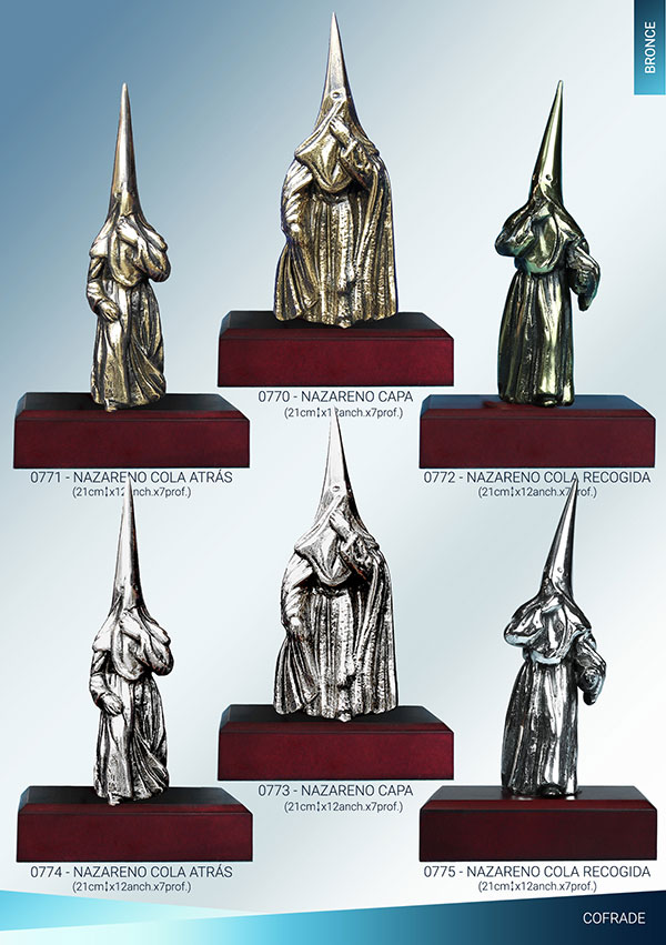 Nazareno fundido en bronce de 21cm
