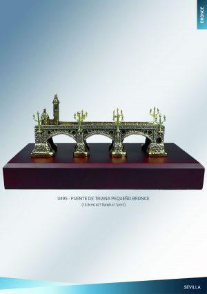 Puente de Triana de Sevilla bronce