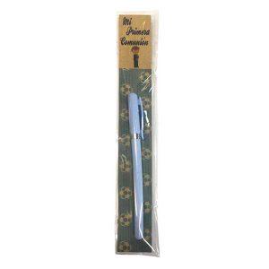 bonito bolígrafo con cartoncillo diseñado con comunión