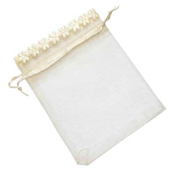 original bolsa organza beige