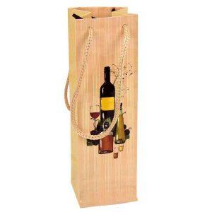bolsa de papel ideal para presentación de vino o licor