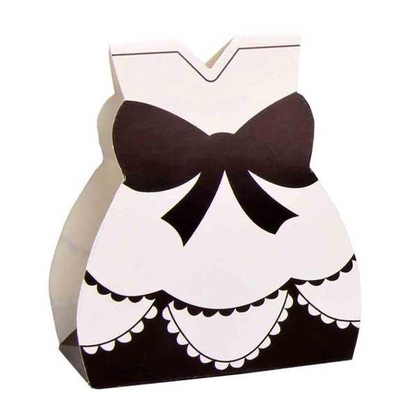bonita cajita de cartón novia