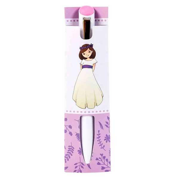 original y económico boli de comunión de niña en color lila