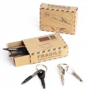 original llavero en caja postal
