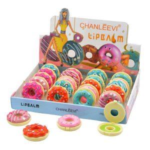 original brillo de labios con forma de donuts