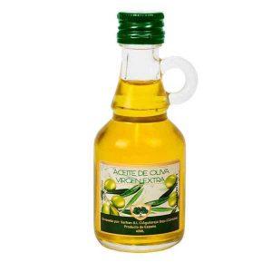 original botella con aceite de oliva