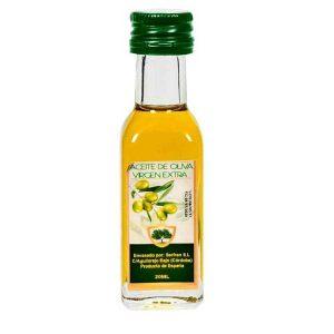 bonita botella con aceite de oliva