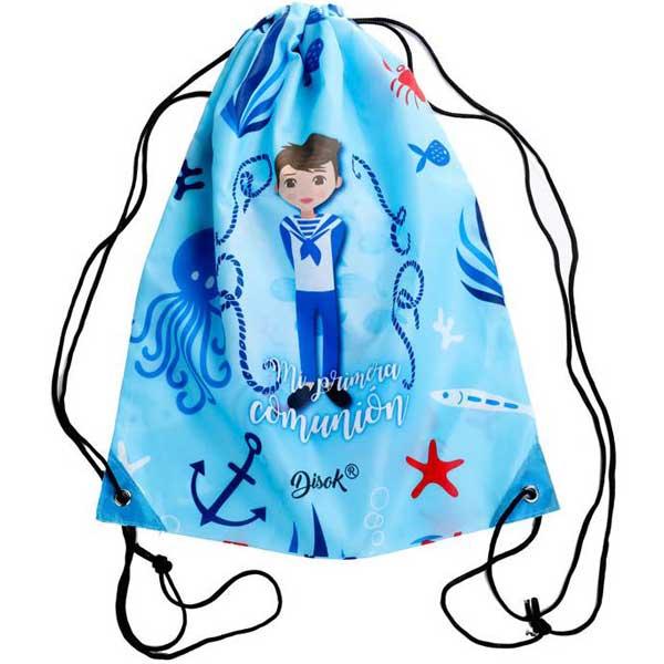 original mochila con diseño de comunión