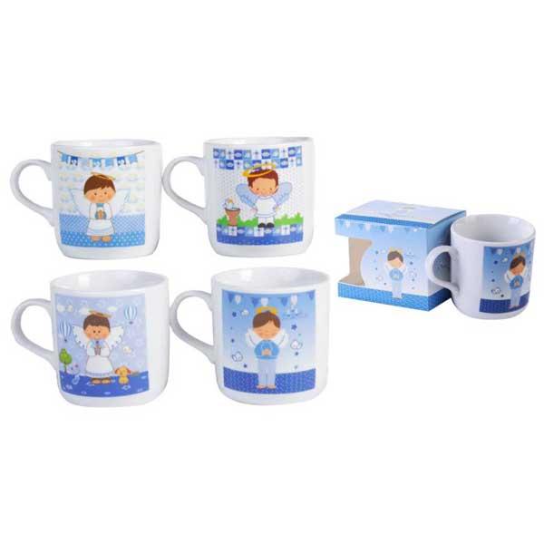 original taza con diseño de niño de comunión